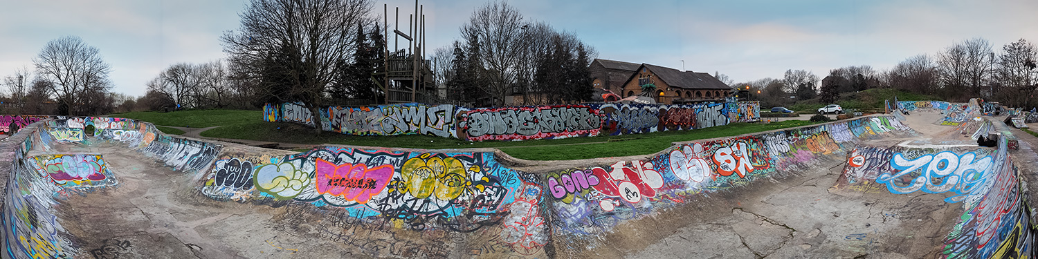 View of View of Marksfield Skatepark, Haringey, London