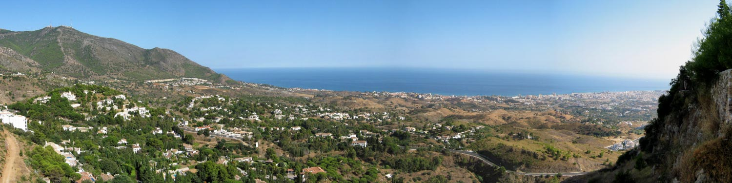 View of the Alboran Sea, Mijas, Southern Spain