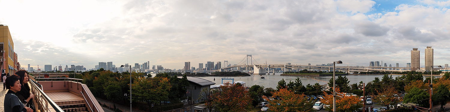 View of Rainbow Bridge, Tokyo, Japan