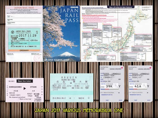 Japan 2017: Attraction / Travel Tickets
